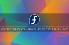 Upgrade KDE Plasma 4 to KDE Plasma 5 in Fedora 21 KDE