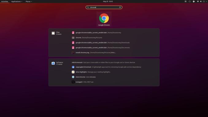 find chome in ubuntu menu