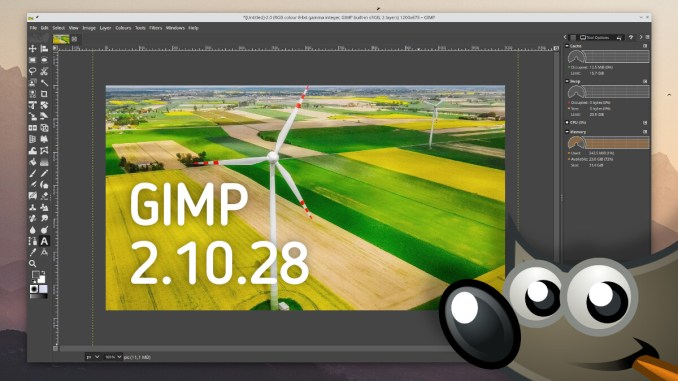GIMP 2.10.28 Graphic Editor Release Download and Install on Linux