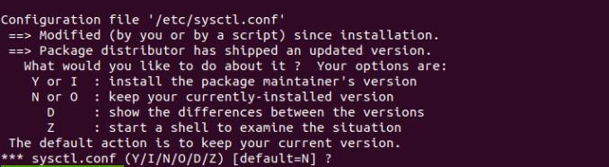 debian buster upgrade Installing new version of config file