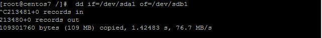clone using dd command
