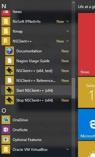 nsclient++ setup