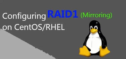 configuring raid1