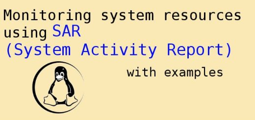 Monitoring system resources using SAR