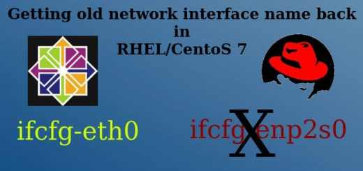 Old network interface name
