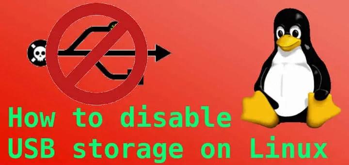 disable usb storage