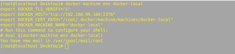 manage docker hosts with docker machine