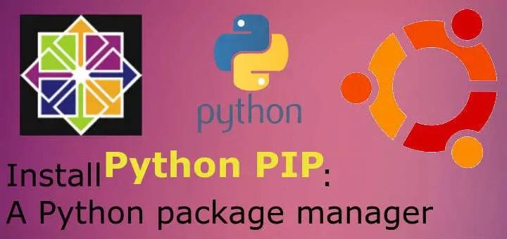 install python pip