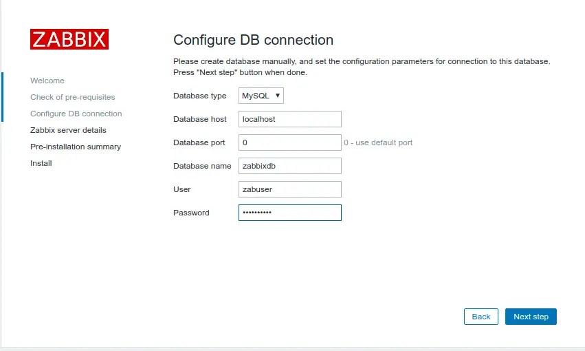 install zabbix