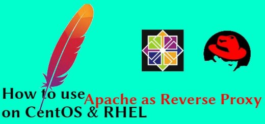 apache as reverse proxy
