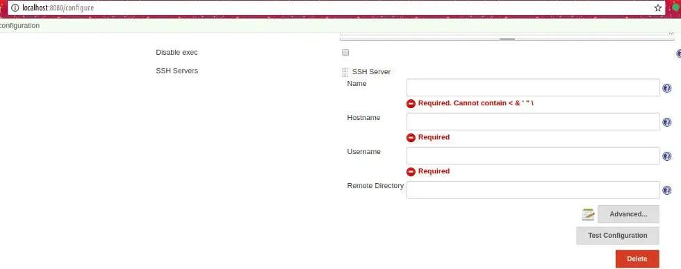 ssh credentials on Jenkins server