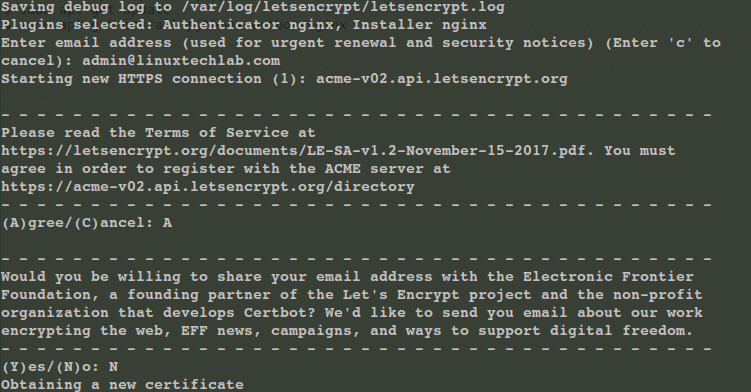 nginx with let's encrypt