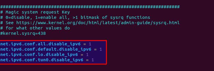 Отключение протокола IPv6 в Linux