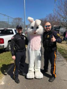 "A special ""Thank You"" to the Easter Bunny and the Linwood Police Department!!"