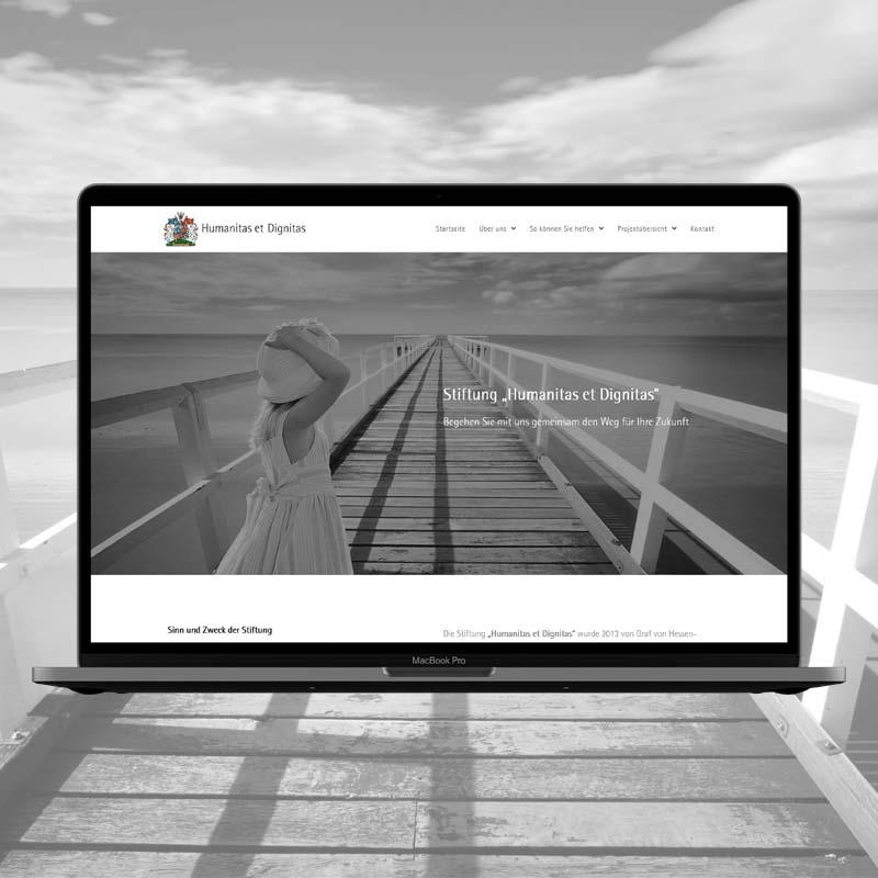 Website für die Stifftung
