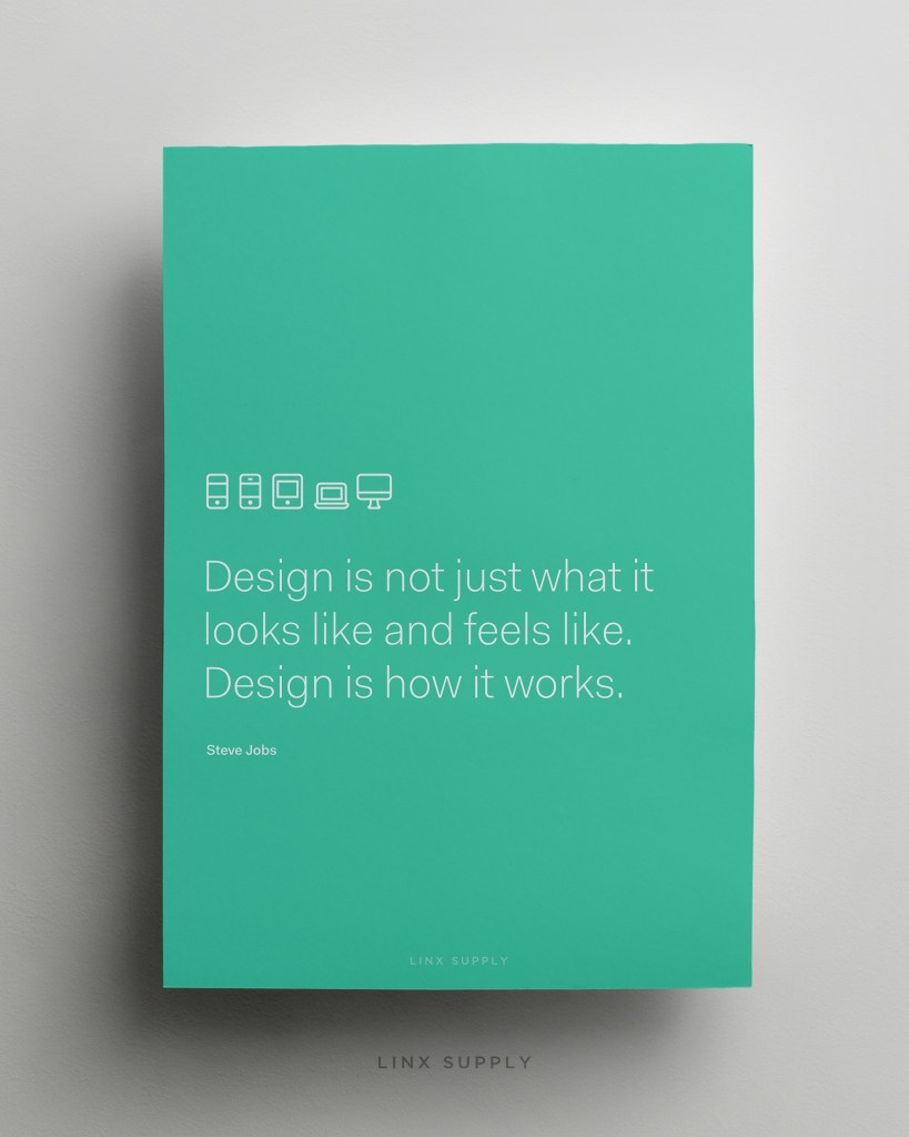Design is how it works mock