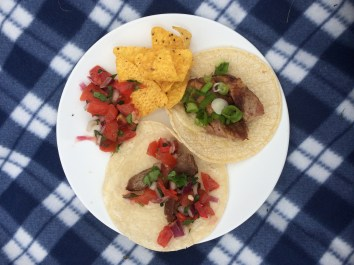 Tacos bbq picnic in the garden!