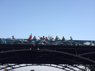 Waving from Pont des Art