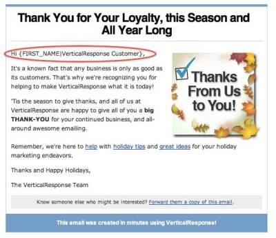 vertical-response-nov-2009-newsletter