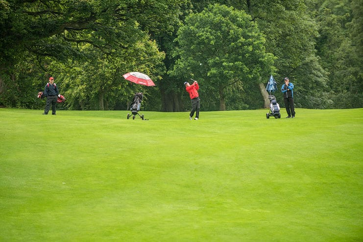 sports event photograph on golf course