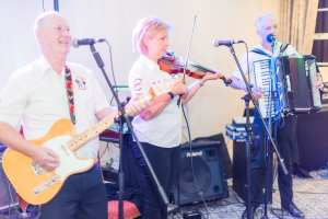 Band entertaining at a private function