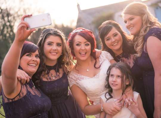Dunadry wedding photography bridal party