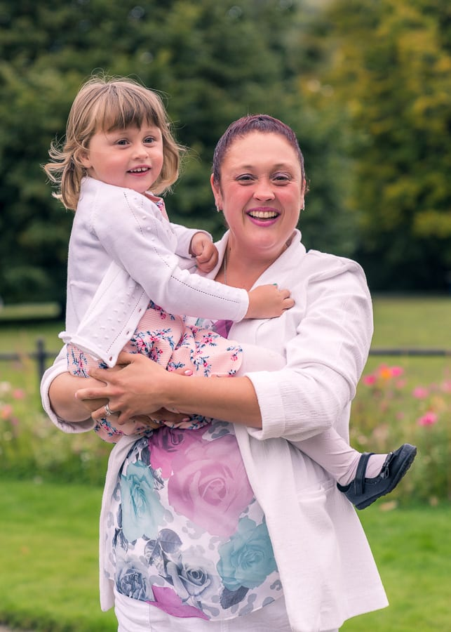 bride and daughter pre-wedding photography