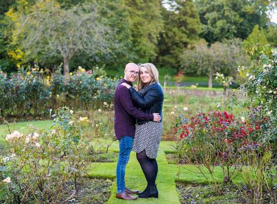 couple in rose gardens