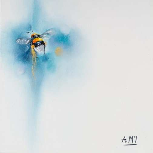 painting of an bee by alison mcilkenny