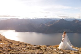 bride standing with natural light