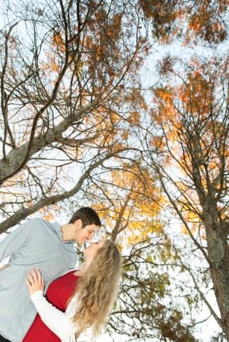 couple underautumn trees