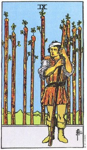Nine of Wands, Waite-Smith