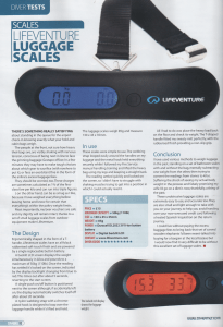 Luggage Scales - Diver Nov15