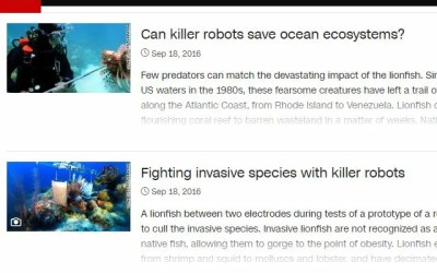CNN Lionfish News Articles