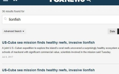 Fox News Lionfish News Articles