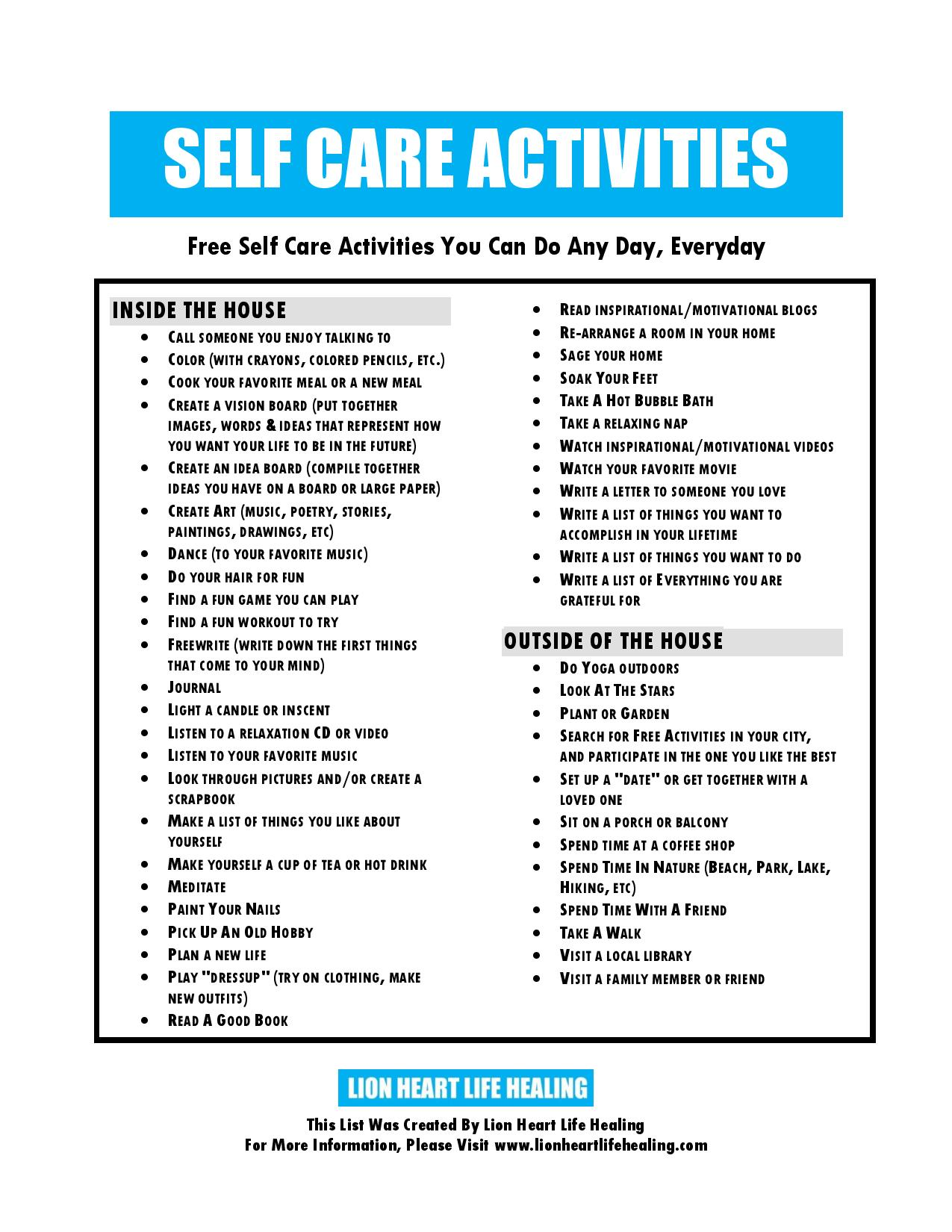 Worksheet Self Care Worksheets Grass Fedjp Worksheet
