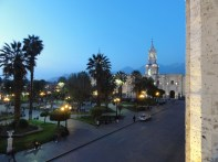 Plaza de Armas, Arequipa by night