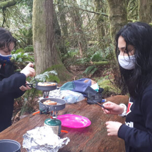 1st Elphinstone Rangers cooking on a hike
