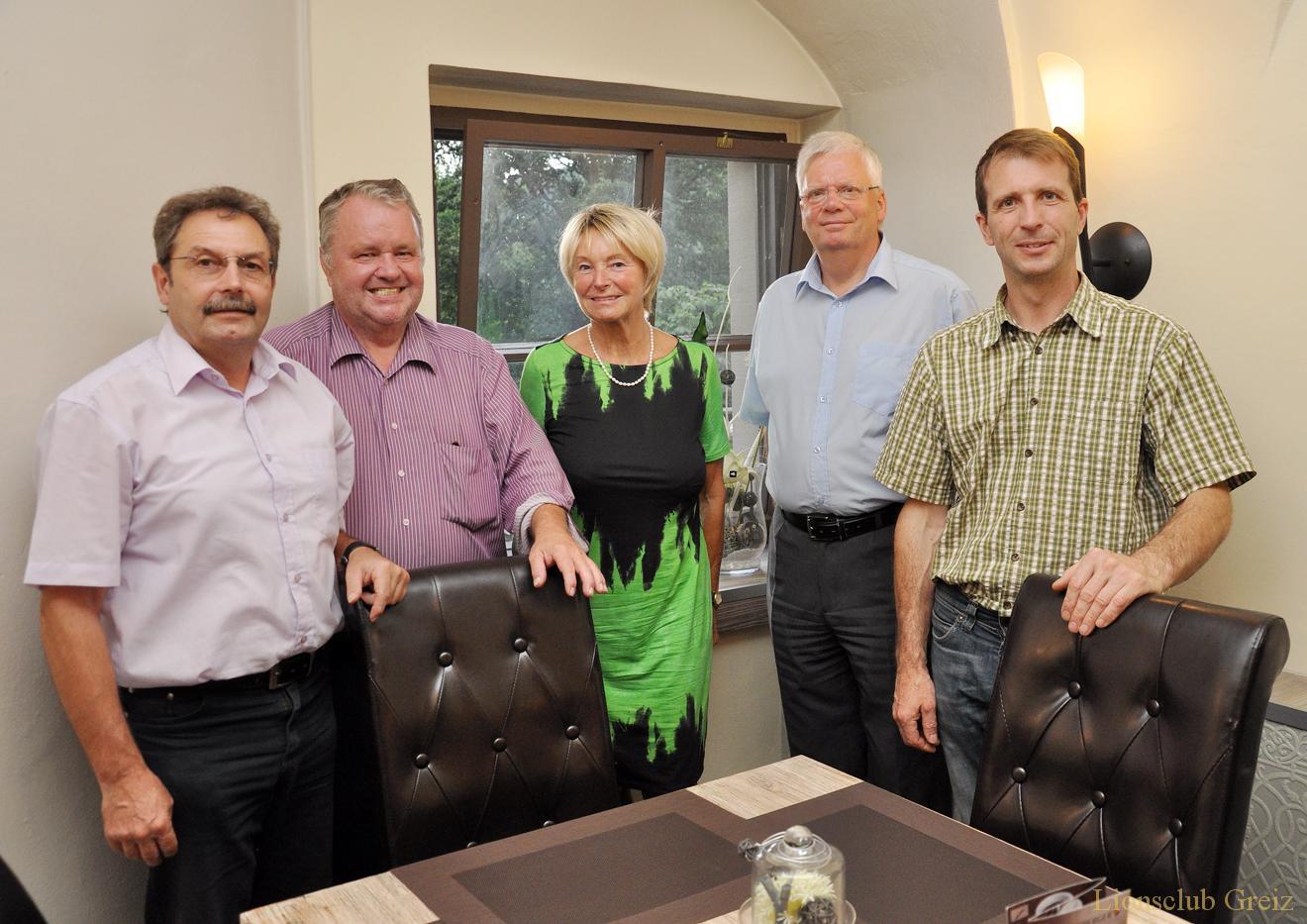 Plauener Lionsclub-Präsident besuchte Greizer Mitgliederversammlung