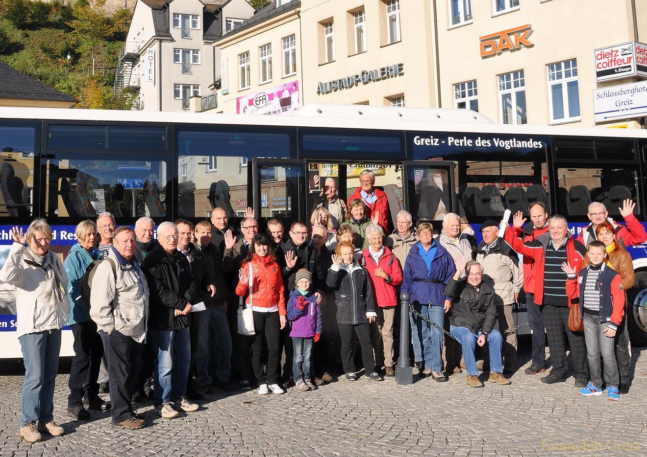 Gemeinsame Grenzwanderung mit Lions aus Greiz, Plauen und Hof