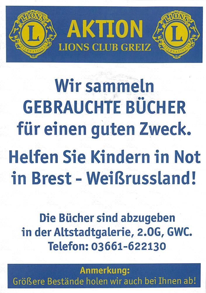 Plakat der Aktion