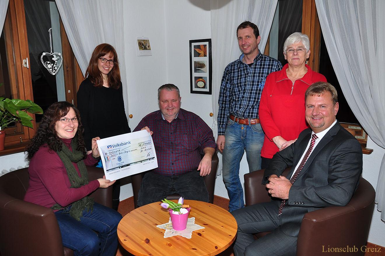 Lions Club Greiz unterstützt Arbeit des Hospizdienstes
