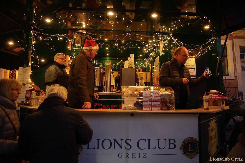 Lions-Stand auf Greizer Weihnachtsmarkt – ein Besuchermagnet