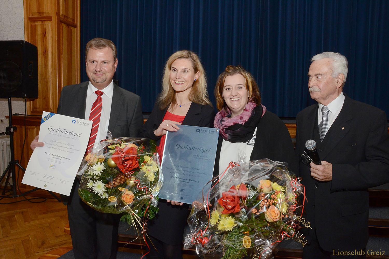 Lions Club Greiz: TRIAS-Oberschule Elsterberg erhält Quest-Qualitätssiegel