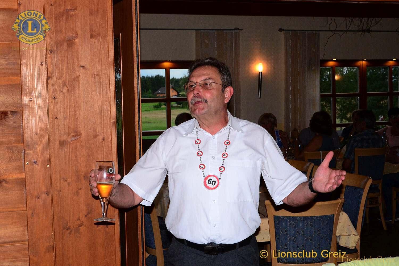 Lions Club Greiz: Holger Palm beging 60. Geburtstag