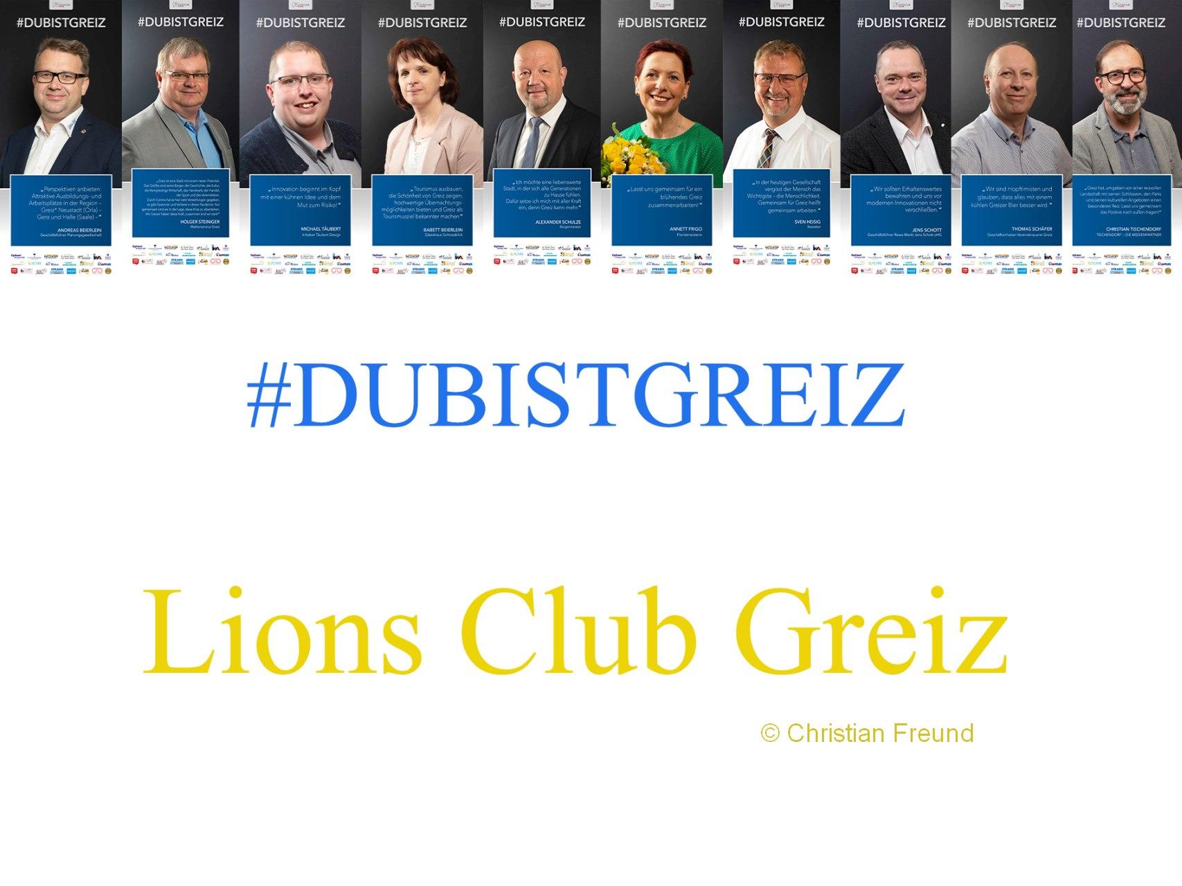 Zehn Lions bei Fotoclub-Plakataktion DUBISTGREIZ dabei