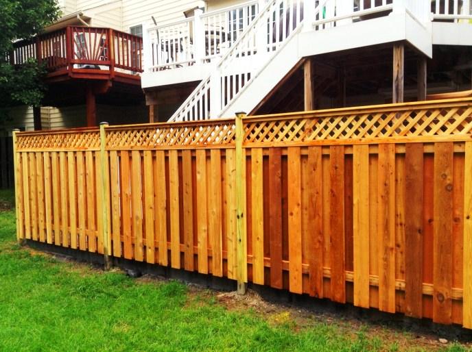 Cedar Board on Board w. Diagonal Lattice Topper South Riding Loudoun County VA by Lions Fence