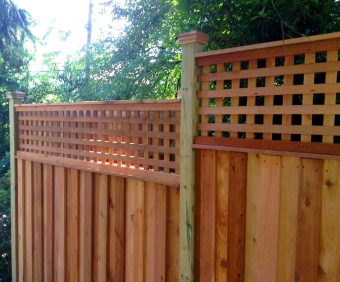 Cedar Privacy with Lattice Arlington Arlington County VA by Lions Fence 4