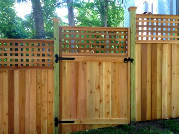 Cedar Privacy with Lattice Arlington Arlington County VA by Lions Fence