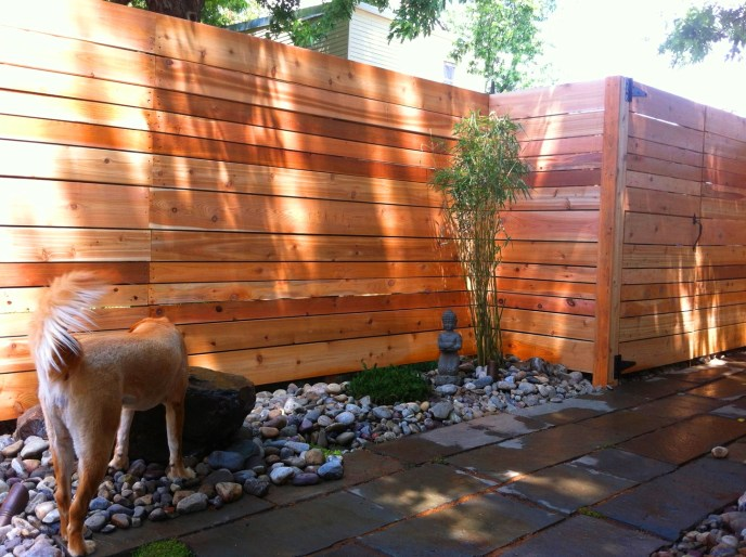 Horizontal Board Privacy Fence perfect for a pool fence